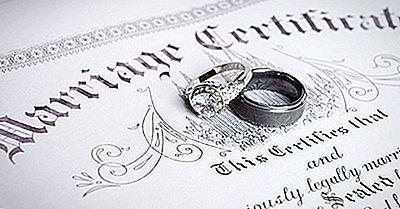 10 Estados De EE. UU. Con Las Mayores Tasas De Matrimonio
