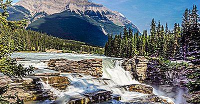 Athabasca Falls, Canada - Lieux Uniques À Travers Le Monde