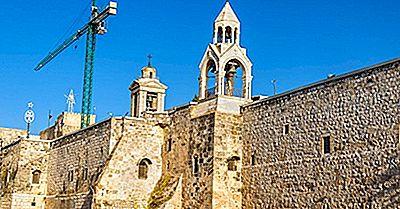 Födelsekyrkan - Födelseplats För Jesus I Betlehem, Palestina