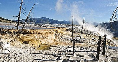 Mammoth Hot Springs, Wyoming - Unika Platser Runt Om I Världen