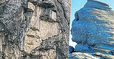 Bergformationer Som Ser Ut Som Människor Från Hela Världen