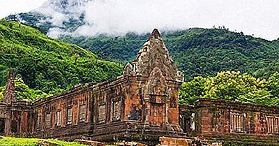 Vat Phou Temple Och Champasak Kultur Platser I Laos