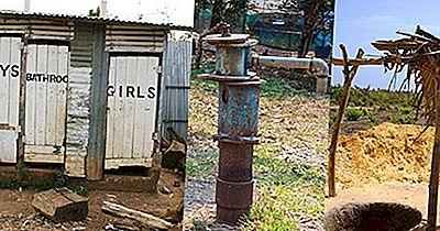 Länder Där Stadsbefolkningen Saknar Tillgång Till Sanitära Faciliteter