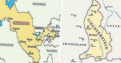 Os Dois Países Duplos Do Mundo Sem Litoral